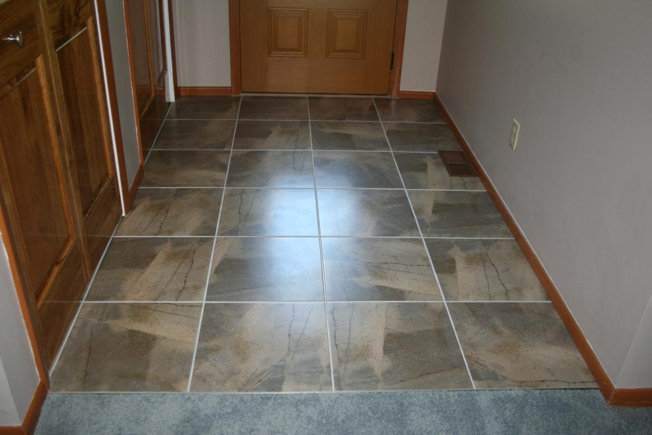Nest homes construction floor and wall tile designs front hall 13 inch tile on the straight dailygadgetfo Images