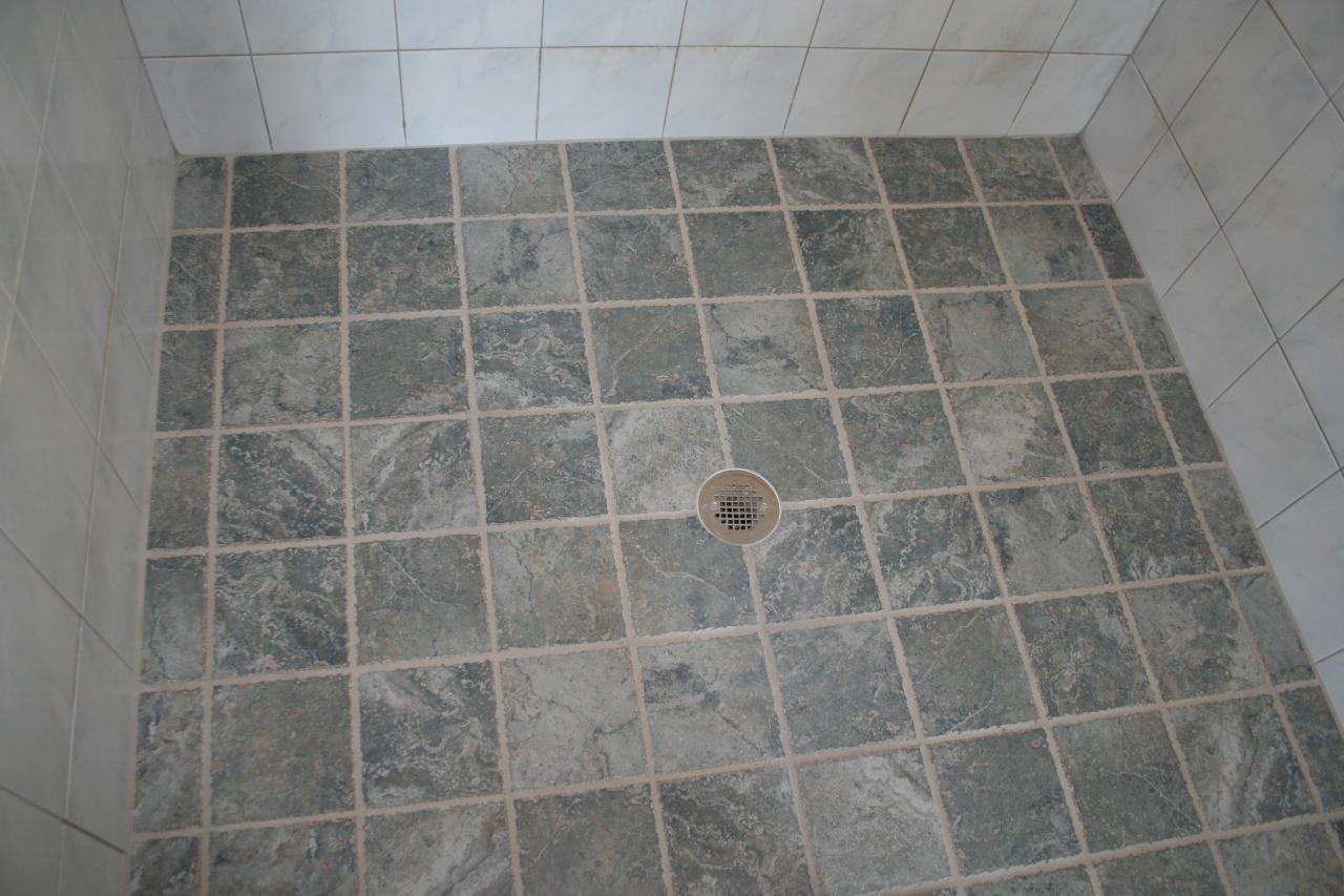 Straight Pattern 6 Inch Ceramic Shower Floor